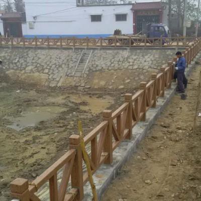 仿木树皮栏杆