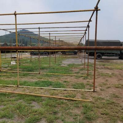 建筑材料架杆